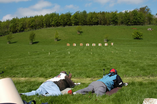 Lowther Shoot 2004 - The 100 yard targets from the firing point.