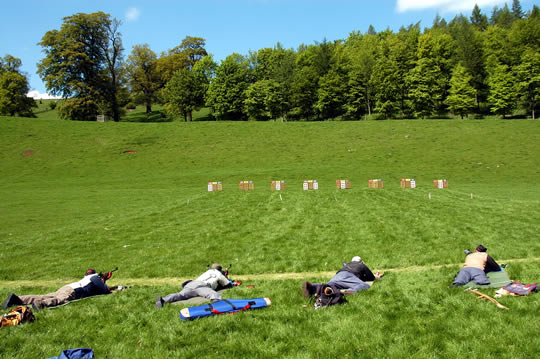 Lowther 2004 - the 50 yard range from the firing points.